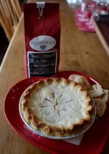 Red Velvet Coffee, Patti's Cherry Pie, and those tasty shortbread cookies.