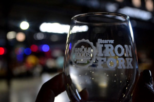 Complimentary Iron Fork glasses.