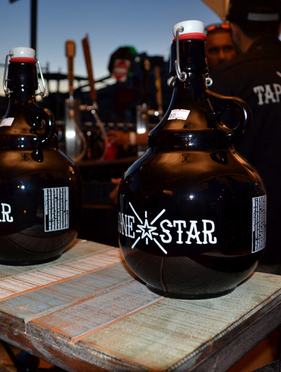 A few of the good looking growlers being sold.