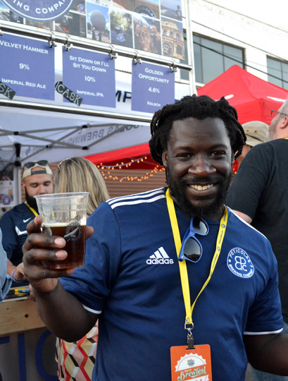 Legendary beer lover, creator and connoisseur, Jarrod Asberry was out and about supporting Peticolas Brewing.