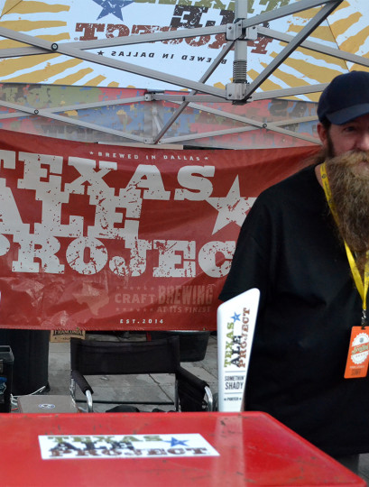 Texas Ale Project was out with a couple of their brews.