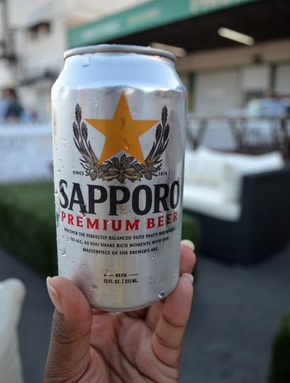 The Sapporo Premium Beer was the begining of the brew tasting. It was quite enjoyable and the perfect light taste to start the evening.