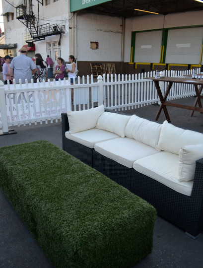 The very cool VIP seating area.
