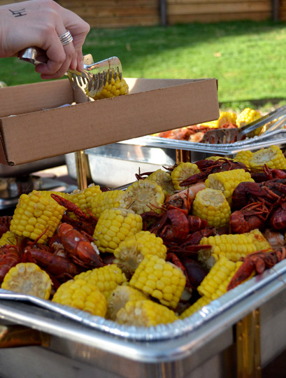 Crawfish, shrimp, potatoes and corn. All the makings of an epic seafood boil.
