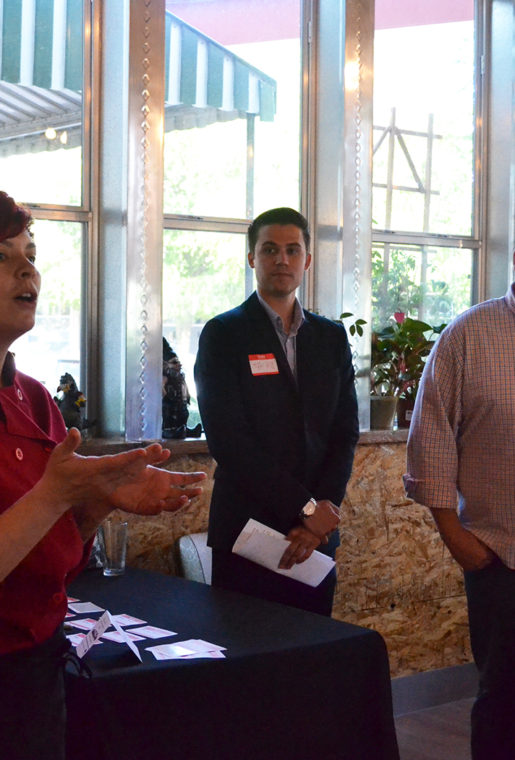 Left to right, Chef Suki Otsuki, Tyler Hill from Ford's Dallas Regional Office , and Robert Beaird.