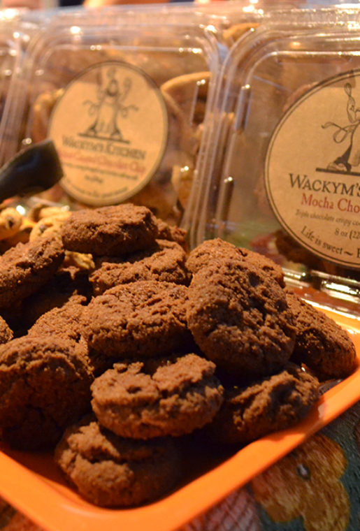 The infamous Wackym's Kitchen Cookies which are made locally.