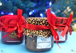 Raspberry, Strawberry Daiquiri and Jalapeno Pepper Jelly.